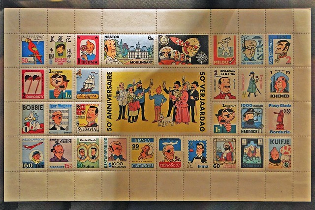 Tintin 50th Anniversary commemorative stamps