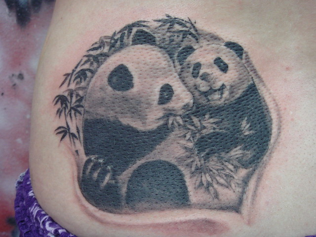 panda (Dejavu Tattoo Studio Chiangmai Thailand)