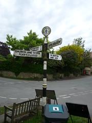 Bury (W Sussex) signpost