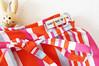 SneakPeak Wrap Skirt Bold Stripes Fuchsia Scarlet by LottaLorier