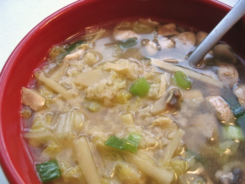Faux Sizzling Rice Soup