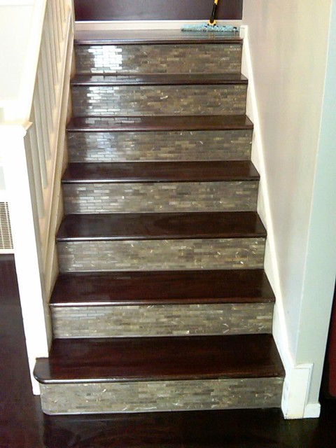 Custom tile wood stairs and wood floor explore - Stairs with tile and wood ...