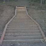 Hole 1 stairs Oct 1, 2009