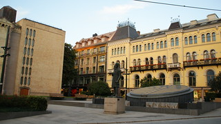 Image of Johan Sverdrup. old city trip oslo norway statue buildings 2009 johan sverdrup