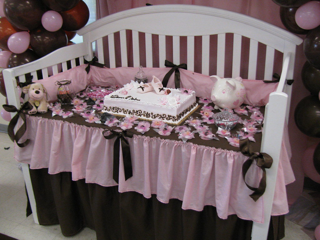 Crib Cake Table For Baby Shower