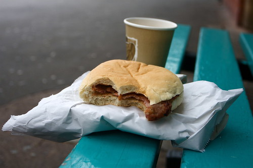 Another Day, Another Bacon Butty by www.AlastairHumphreys.com