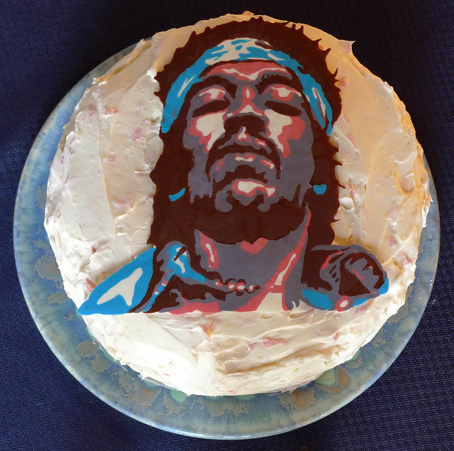 Jimi Hendrix Cake