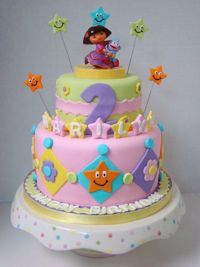 Dora Birthday Cake - Best Collections Cake Recipe
