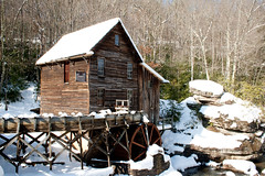 Glade Creek Grist Mill in Winter. By: jpmueller99