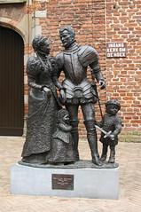 Willem van Oranje Anna van Buren Philips en Maria, Markt Buren
