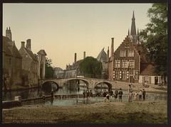 [Convent bridge and the spire of Notre Dame, Bruges, Belgium] (LOC)