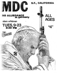 MDC, No Allegiance, Slam Whitman, Union Bar & Grill, Athens, Ohio, September 23, 1986