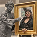 World Statues 2009: Leonardo da Vinci paints Mona Lisa