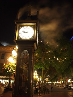 "Image of Gastown Steam Clock near West End. canada clock vancouver pen downtown bc olympus gastown ep1 ペン カナダ バンクーバー オリンパス ダウンタウン microfourthirds マイクロフォーサーズ ガスタウン ""steam スチームクロック"