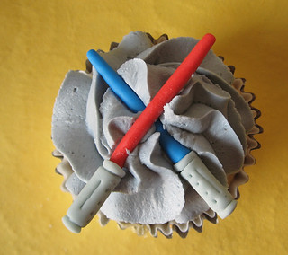 Light sabers Star Wars cupcake topper