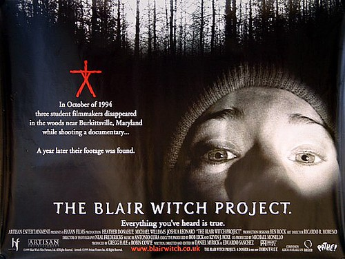 Movie Posters 1999: The Blair Witch Project 1999 Original Vintage UK Quad