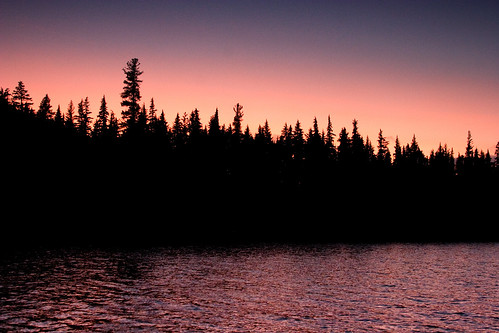 pink camping trees sunset sky lake 20d water oregon canon boat twilight fishing purple dusk miller treeline