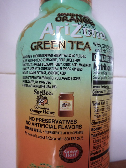 Arizona Green Tea Alcoholic Drinks