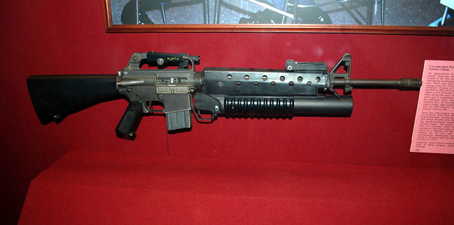 rifle m16 with grenade...