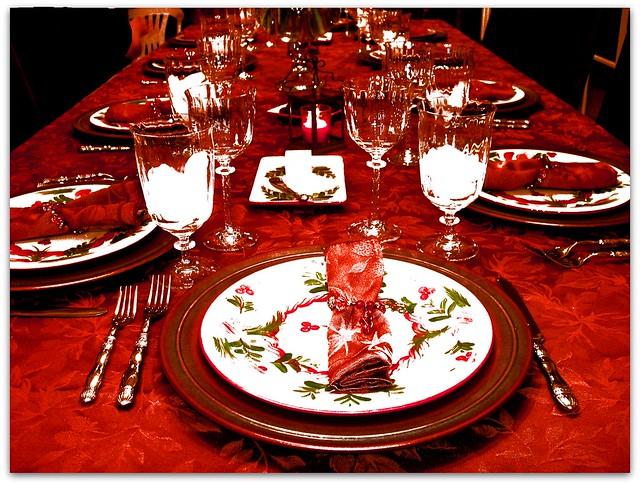 christmas feast table - photo #16