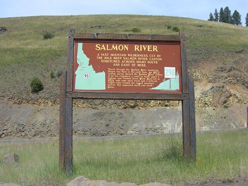 Salmon River Historic Marker