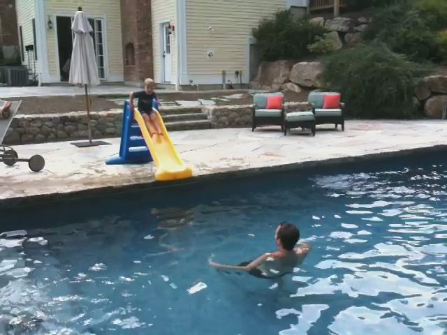 Jack Slides Into the Pool