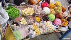 Thai Ice Mixed Sweet Dessert / ขนมหวานรวมมิตร-น้ำแข็งไส จ้า