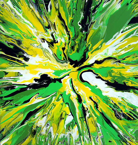 Green & Yellow Abstract Painting