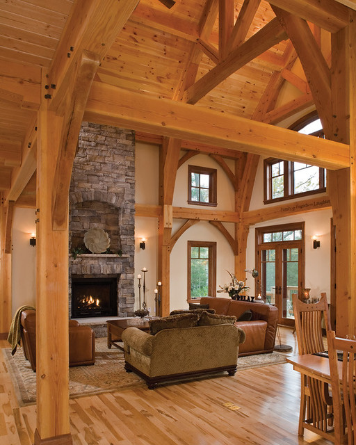 Timber Treasure Timber Frame Home Great Room Flickr