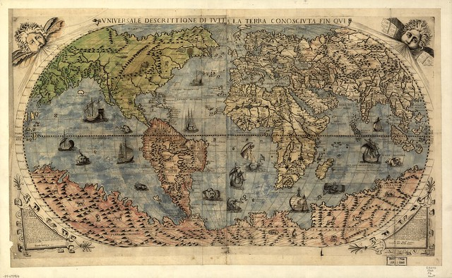 1565 World map by Fernado Bertelli