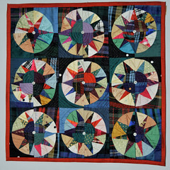 Recycled Ballroom 'suitcase' quilt by bearpawandbearpaw