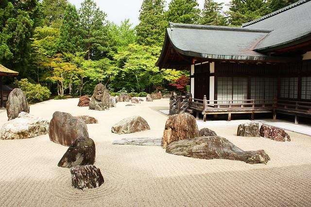 Banryu-tei rock garden, Kongobu-ji