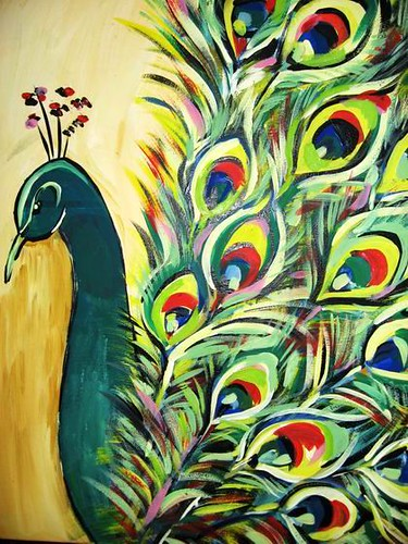 Photo for Easy peacock paintings