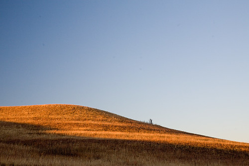 sunset kansas prairie flinthills konza