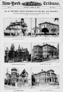 Six of the mosy costly buildings on Nob Hill, San Francisco (LOC)