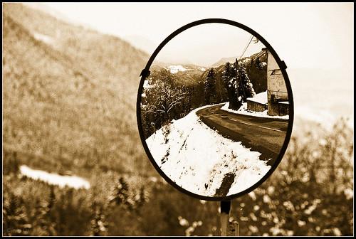 Miroir (Paysage de Savoie sous la neige)
