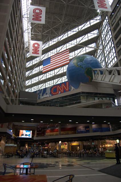 CNN Center lobby by CC user crawlem on Flickr