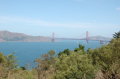 Vue sur le Golden Gate Bridge