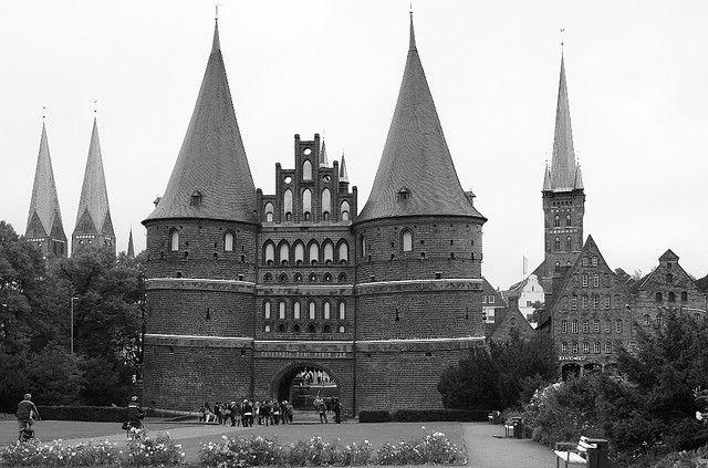 Holstentor, Holsten Gate, Luebeck, Germany