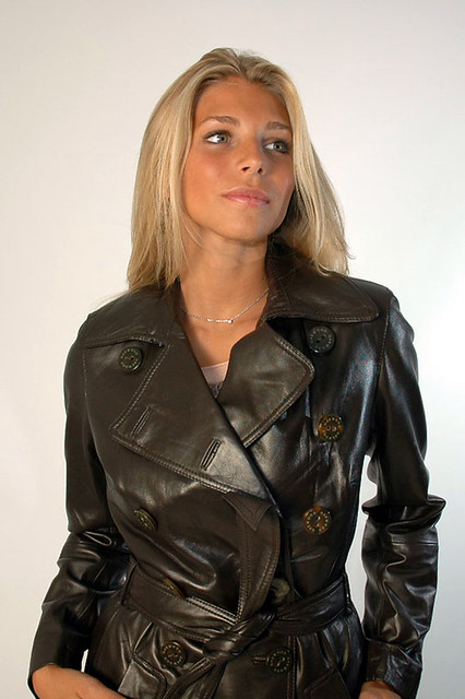 Milf in pvc coat amp leather lace up basque - 3 3