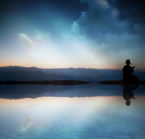 mountain reflection sunrise dawn muslim prayer obedience dua fajr tasshud