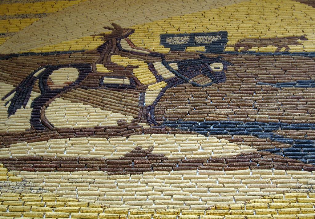 Corn mural at the Corn Palace