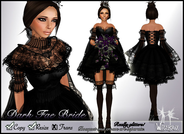 Dark Fairy Bride Dress