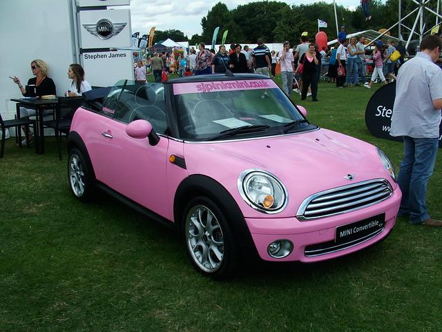 pink mini cooper convertible flickr photo sharing. Black Bedroom Furniture Sets. Home Design Ideas