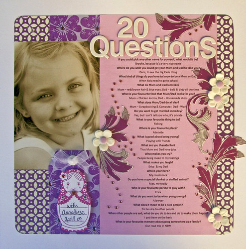 20 Questions with Annaliese - Tag challenge