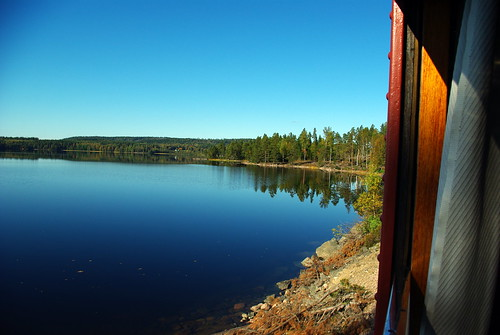 railroad sky tree water museum train pentax sweden värmland svanskog k200d negeasca jååj