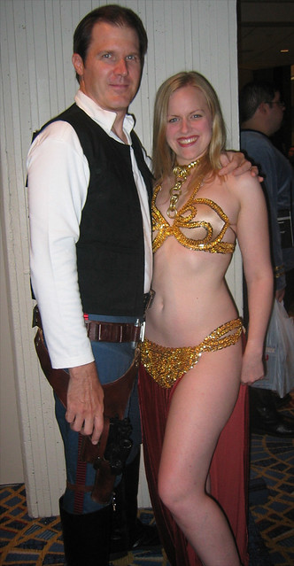 Slave Leia Maddie with Skully as Han Solo!