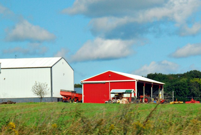 Big Red Barn On An Indiana Farm Flickr Photo Sharing