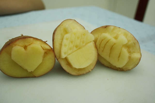 three potato stamps ready | Flickr - Photo Sharing!