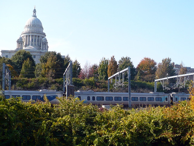 Amtrak Acela arriving in Providence